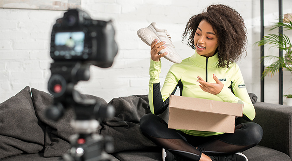 Brand Ambassador  Reviewing Products On Camera