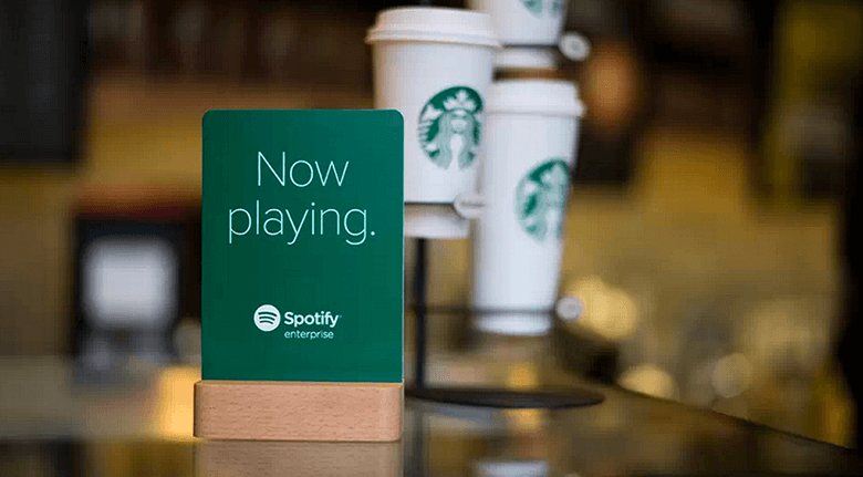 Advertising Partnership Between Spotify And Starbucks