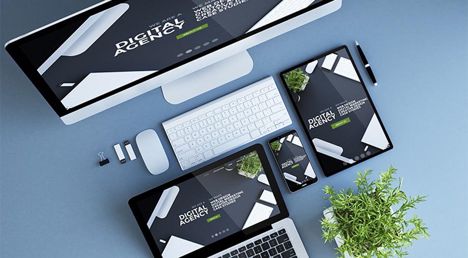 Web Design Trend Report On Multiple Digital Device Screens