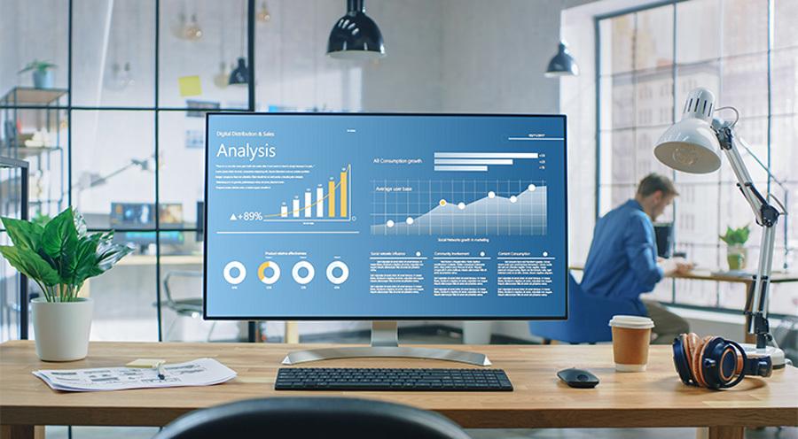 eCommerce SEO Optimization Report On Desktop Computer Screen