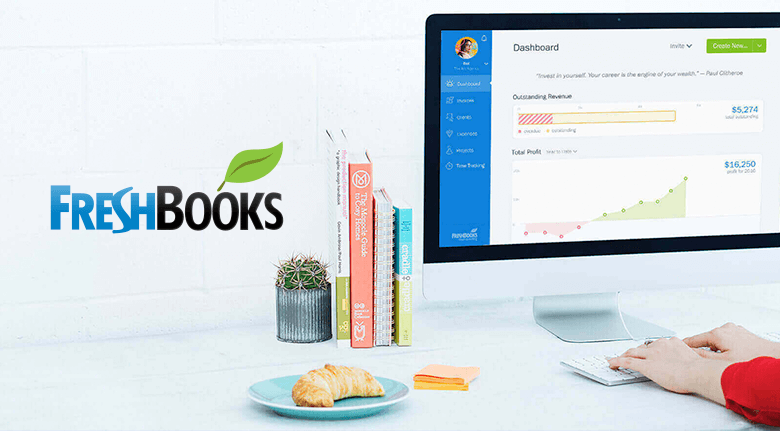 FreshBooks Logo With Example